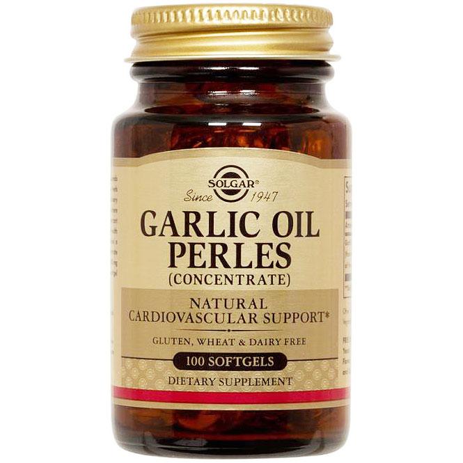 Garlic Oil Perles Reduced Odor, 100 Softgels, Solgar