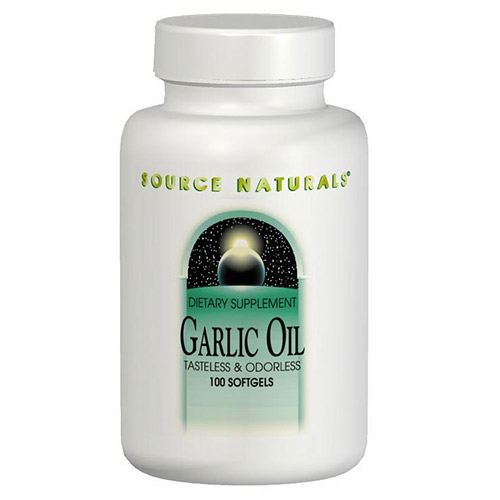 Garlic Oil Odorless 500mg 100 softgels from Source Naturals