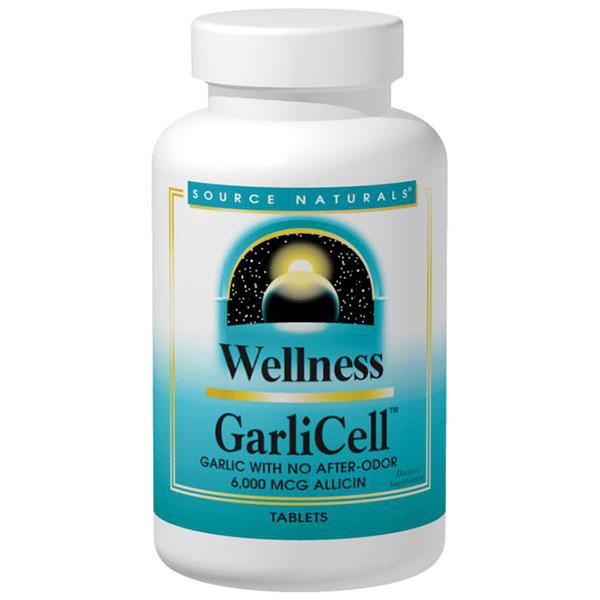 Wellness GarliCell Garlic Odorless 600mg 180 tabs from Source Naturals