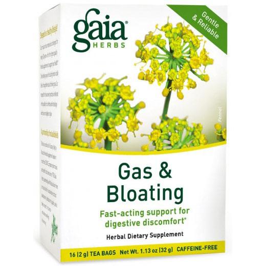 Gas & Bloating Tea, Gentle & Reliable, 16 Tea Bags x 6 Boxes, Gaia Herbs
