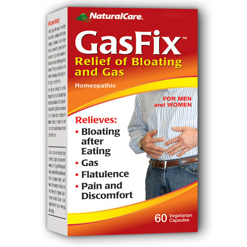 GasFix (Relief of Bloating and Gas), 60 Vegicaps, NaturalCare