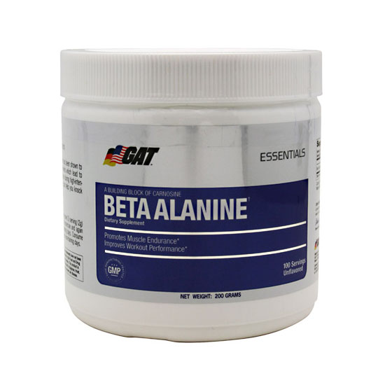 Beta Alanine Powder, 200 g, GAT Sport