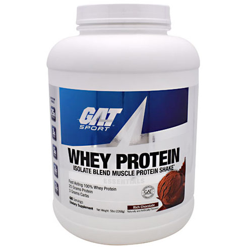 GAT Sport Whey Protein, Isolate Blend Muscle Protein Shake, 5 lb