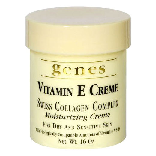Genes Vitamin E Creme, Swiss Collagen Complex Moisturizing Creme, 16 oz