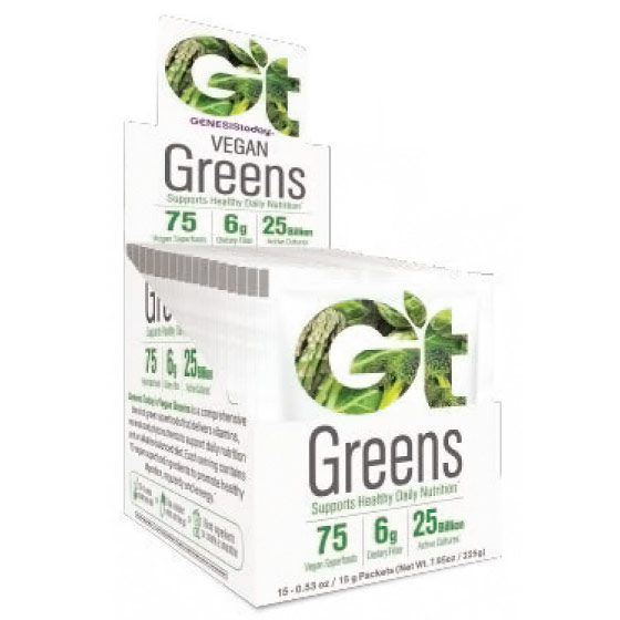 Essential Greens, 25 Billion Probiotics, 15 Sachet Packets, Genesis Today