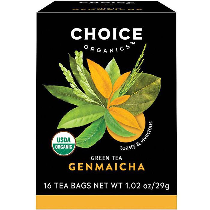 Genmaicha Green Tea, 16 Tea Bags, Choice Organic Teas