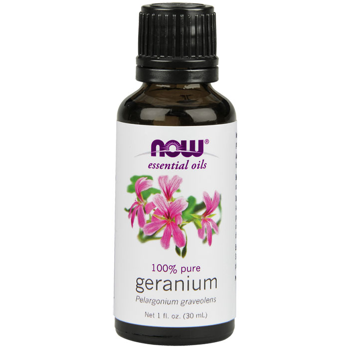 Geranium Oil, Pure Essential Oil 1 oz, NOW Foods