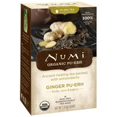 Ginger Pu-erh Tea, 16 Tea Bags, Numi Tea