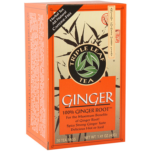Ginger Tea, 20 Tea Bags x 6 Box, Triple Leaf Tea