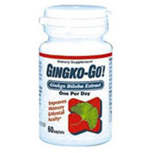Ginkgo-Go! Ginkgo Biloba Extract 120mg 60 caplets, Wakunaga Kyolic