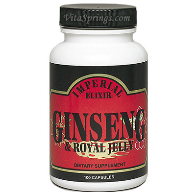 Ginseng & Royal Jelly 100 caps from Imperial Elixir Ginseng