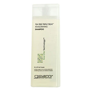 Tea Tree Triple Treat Invigorating Shampoo Travel Size, 2 oz, Giovanni Cosmetics