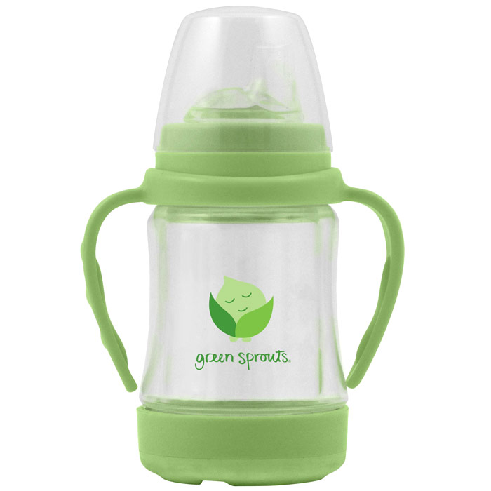 Glass Sip & Straw Cup - Lime, 4 oz, Green Sprouts Baby Products
