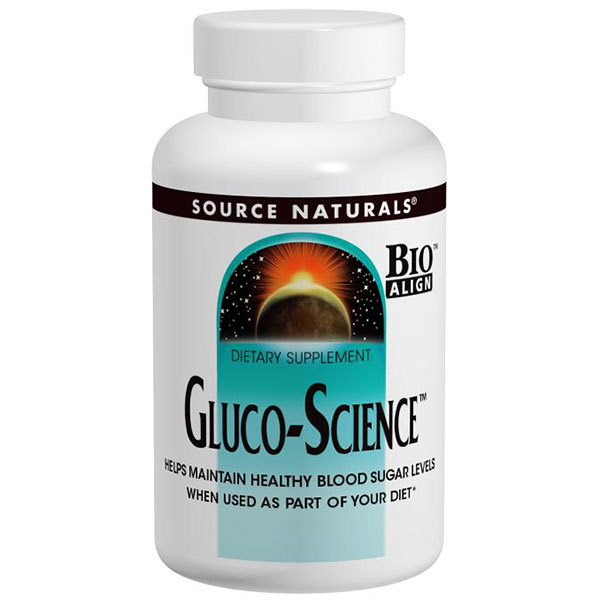 Gluco-Science for Healthy Blood Sugar Levels 60 tabs from Source Naturals