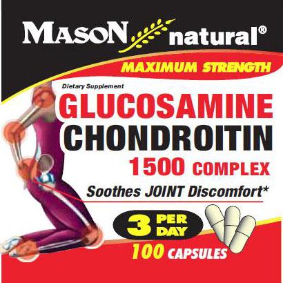 Glucosamine & Chondroitin 1500 Complex, 100 Capsules, Mason Natural