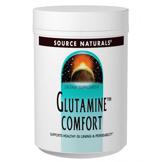 Glutamine Comfort Powder, Supports Healthy GI Lining & Permeability, 4 oz, Source Naturals