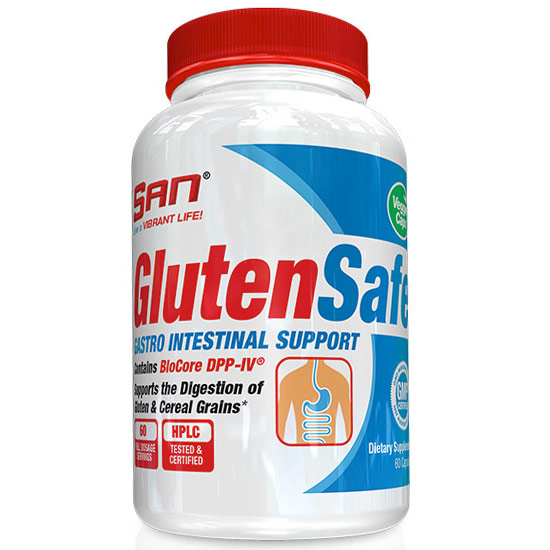 Gluten Safe, Gastro Intestinal Support, 60 Capsules, SAN Nutrition