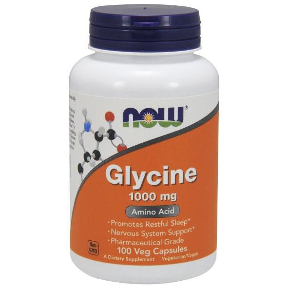 Glycine 1000 mg, 100 Capsules, NOW Foods