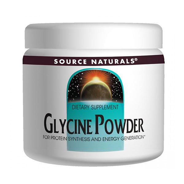 Glycine Powder, 16 oz, Source Naturals