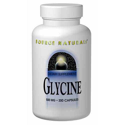Glycine 500mg 200 caps from Source Naturals