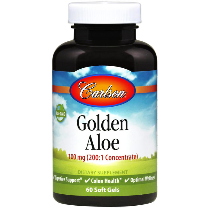 Golden Aloe, Aloe Vera Concentrate 100 mg 60 softgels, Carlson Labs