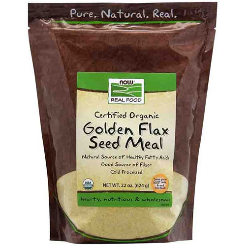Golden Flax Seed Meal, Certified Organic, 22 oz, NOW Foods