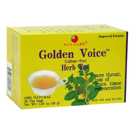Image of Golden Voice Herb Tea, 20 Bags, Health King Herbal Tea