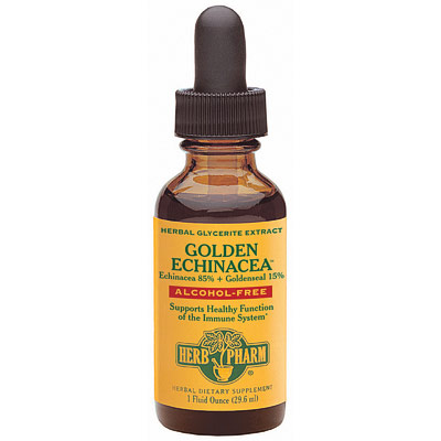 Goldenseal-Echinacea Glycerite (Golden Echinacea) 1 oz from Herb Pharm