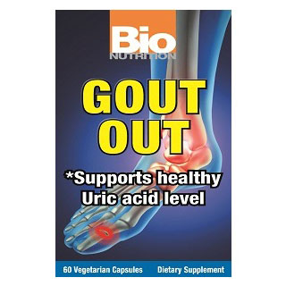 Gout Out, Supports Healthy Uric Acid Level, 60 Vegetarian Capsules, Bio Nutrition Inc.