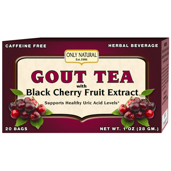 Gout Tea with Black Cherry Fruit Extract, 20 Tea Bags, Only Natural Inc.