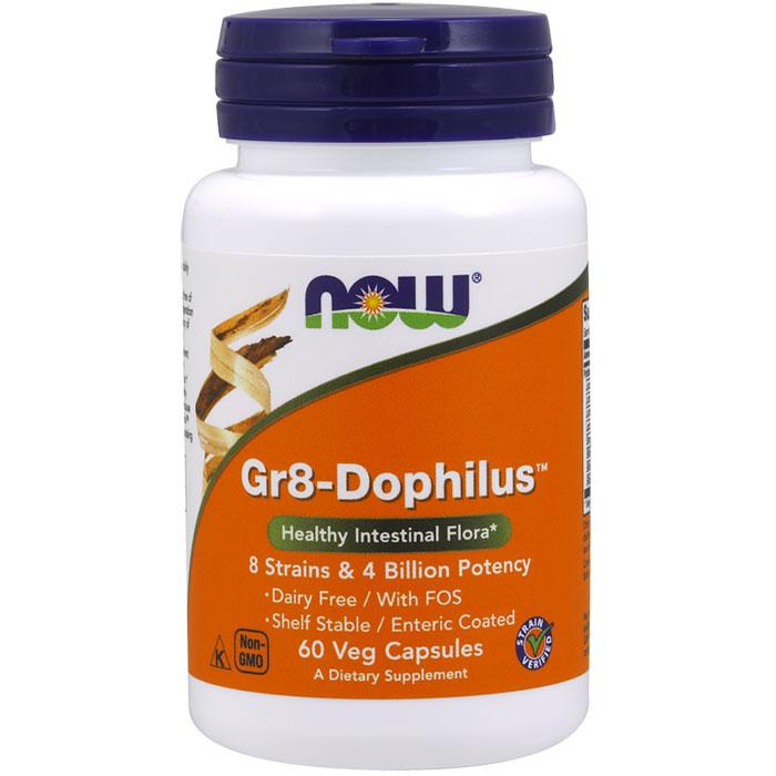 Gr8-Dophilus - 60 Vcaps, NOW Foods