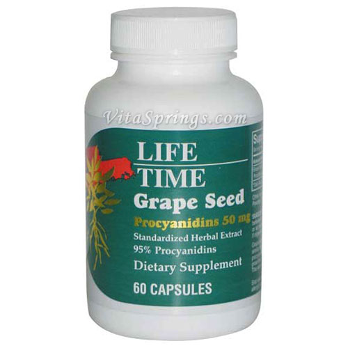 Grape Seed 50 mg, 60 Capsules, LifeTime