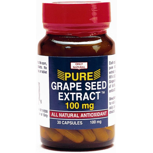 Grape Seed Extract 100 mg, 30 Capsules, Only Natural Inc.
