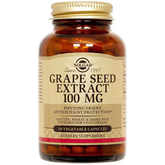 Grape Seed Extract 100 mg, 60 Vegetable Capsules, Solgar ShopFest Money Saver