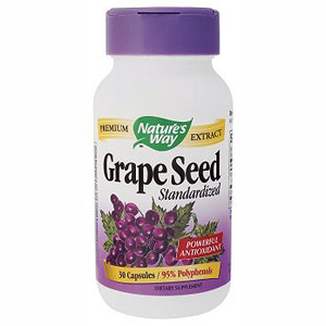 Grape Seed Extract Standardized 30 caps from Nature