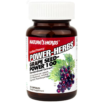 Grape Seed Power-100 30 caps from Natures Herbs