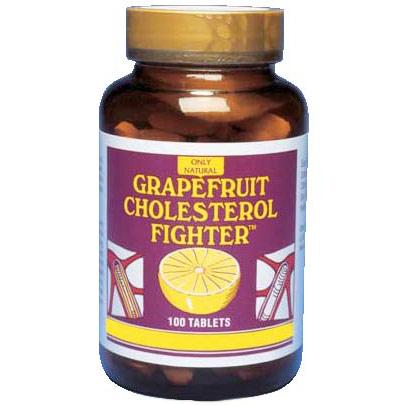 Grapefruit Cholesterol Fighter, 100 Tablets, Only Natural Inc.