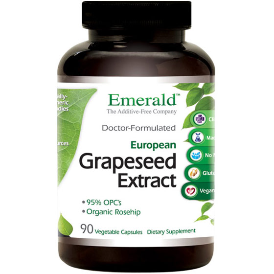 Grapeseed Extract, 90 Vegetable Capsules, Emerald Labs