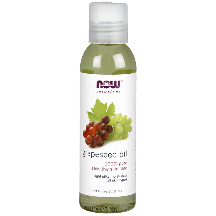 Grapeseed Oil, 100% Pure, 4 oz, NOW Foods