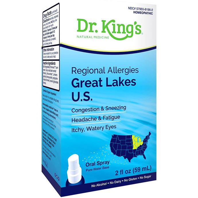 Regional Allergies - Great Lakes U.S., 2 oz, Dr. Kings by King Bio