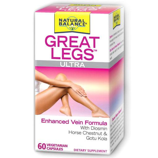 Great Legs Ultra, Vein Formula with Diosmin, 60 Vegetarian Capsules, Natural Balance