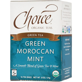 Green Moroccan Mint Green Tea, 16 Tea Bags, Choice Organic Teas