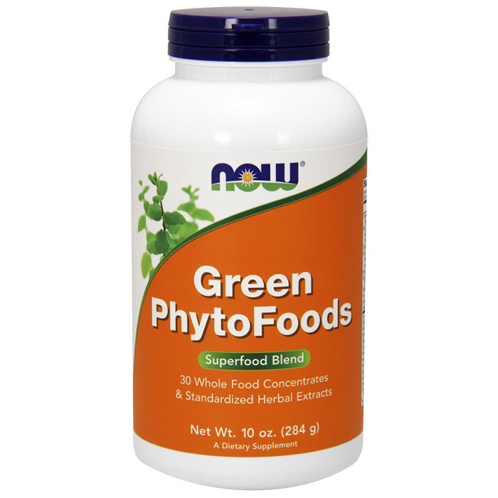Green PhytoFoods Powder, Superfood Blend, 10 oz, NOW Foods