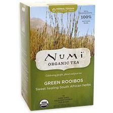 Green Rooibos Tea, Herbal Teasan, 18 Tea Bags, Numi Tea