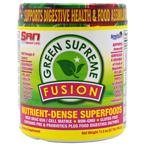 Green Supreme Fusion, Superfoods Powder, 11.2 oz, SAN Nutrition