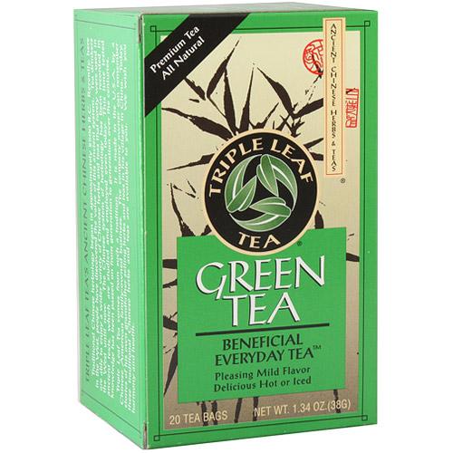 Green Tea, 20 Tea Bags x 6 Box, Triple Leaf Tea
