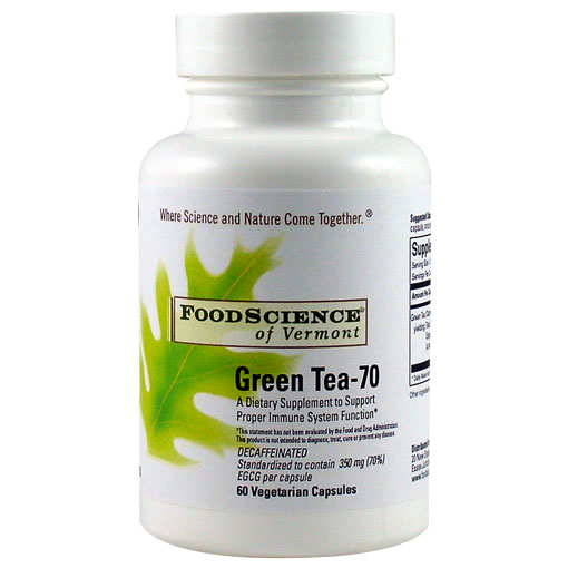Green Tea-70 (70% EGCG) 60 caps, FoodScience Of Vermont - CLICK HERE TO LEARN MORE