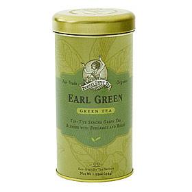 Organic Green Tea, Earl Green, 6 x 22 Tea Bags/Case, Zhena's Gypsy Tea