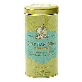 Organic Green Tea, Egyptian Mint, 6 x 22 Tea Bags/Case, Zhena's Gypsy Tea