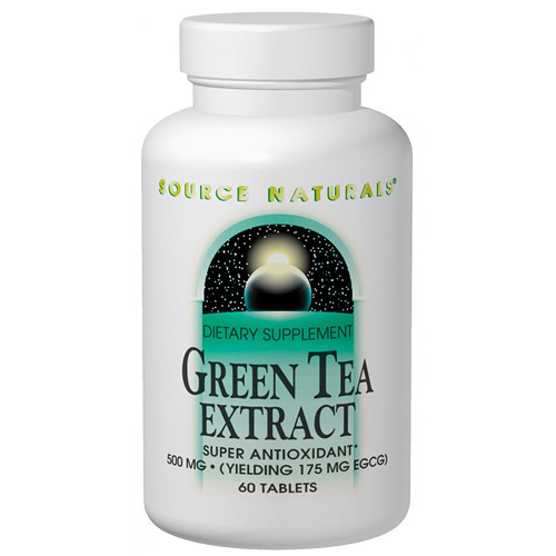 Green Tea Extract 500 mg, 60 Tablets, Source Naturals